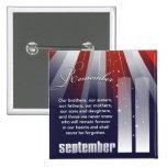11 de septiembre - Pin patriótico de la conmemorac