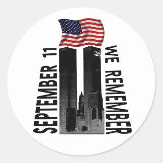 11 de septiembre recordamos etiquetas redondas