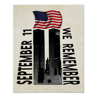 11 de septiembre recordamos tributo conmemorativo póster
