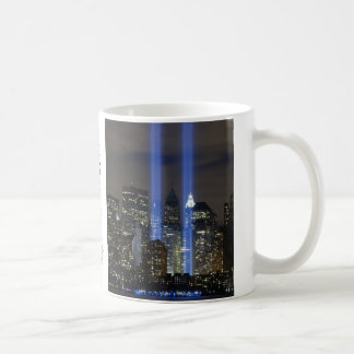 11 de septiembre, torres de la luz taza de café