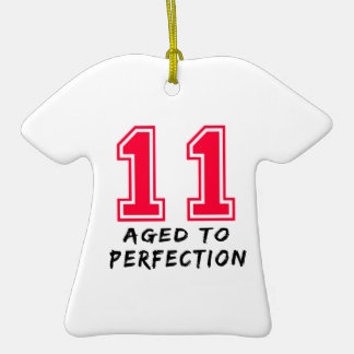11 envejeció al diseño del cumpleaños de la perfec adorno para reyes