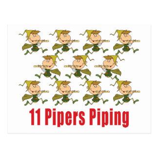 11 gaiteros que instalan tubos las postales