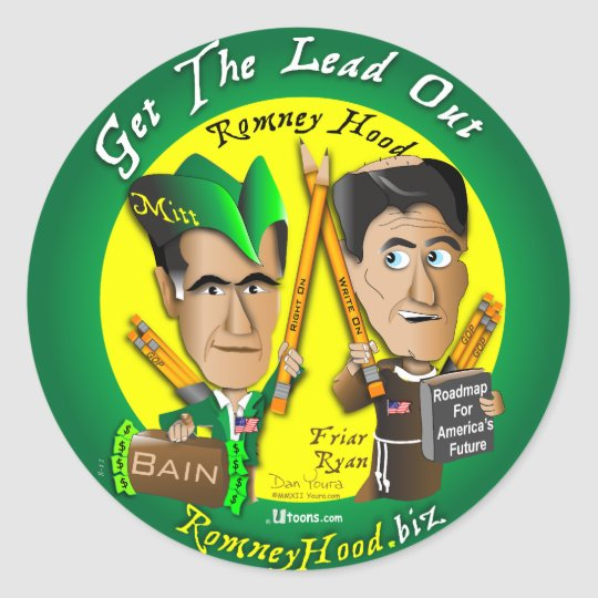11. Get The Lead Out Classic Round Sticker