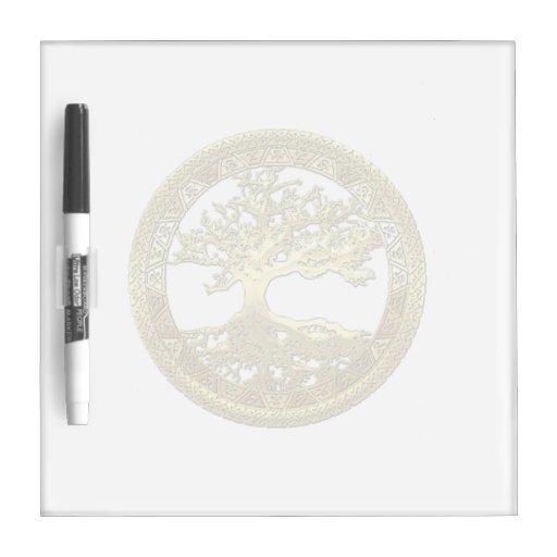 [11] Golden Celtic Tree of Life Dry-Erase Board