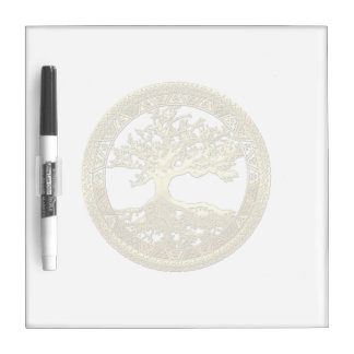 [11] Golden Celtic Tree of Life Dry-Erase Board