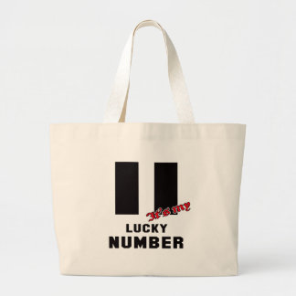 11 It's my lucky number Jumbo Tote Bag