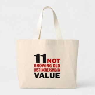 11 Just Growing Old Birthday Designs Jumbo Tote Bag