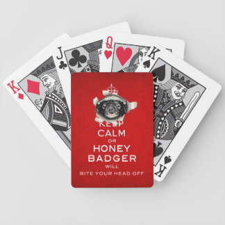 [11] Keep Calm or Honey Badger… Bicycle Playing Cards