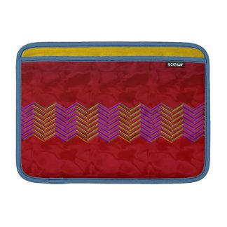 "11"" Mac Book Air Sleeve red zigzag"
