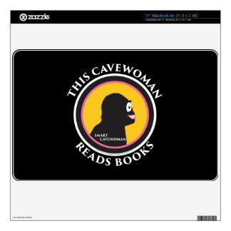 "11"" MacBook Air Skin Smart Cavewoman Reads Books"