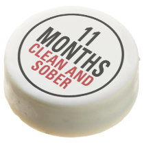 11 Months Clean and Sober Chocolate Dipped Oreo