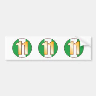 11 NIGERIA Gold Bumper Sticker