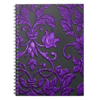 11 opciones de color - damasco metálico grabado en cuaderno