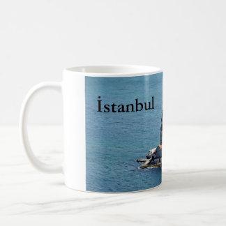 11 oz Classic White Mug: Istanbul - Maiden's Tower Coffee Mug