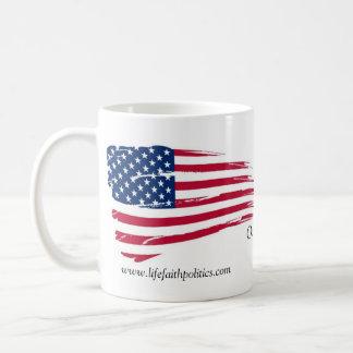11 oz Classic White Mug - Life, Faith, Politics