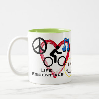 "11 oz Mug, ""Life Essentials"" Two-Tone Coffee Mug"