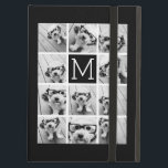 "11 Photo Instagram Collage Custom Black Monogram Cover For iPad Air<br><div class=""desc"">Black and White - Use up to 11 square photos to create a unique and personal gift. Or you can keep the hipster puppy and make a trendy keepsake. If you need to adjust the pictures,  click on the customize tool to make changes.</div>"