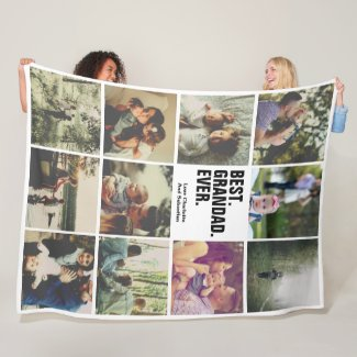 11 photos collage personalized fleece blanket