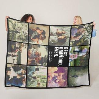 11 photos collage personalized fleece blanket