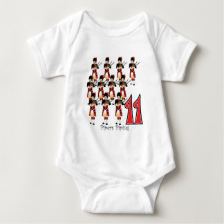 11 Pipers Piping Baby Bodysuit