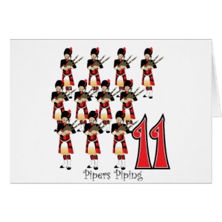 11 Pipers Piping Card