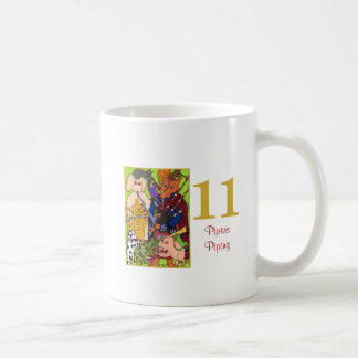 11 Pipers Piping Cute Animals & Typography Coffee Mug