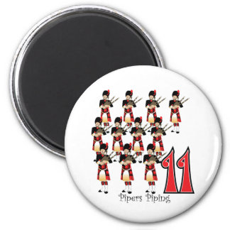 11 Pipers Piping Magnet