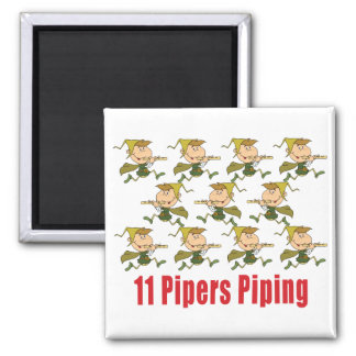 11 Pipers Piping Magnets