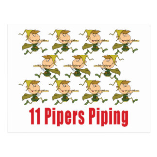 11 Pipers Piping Postcards