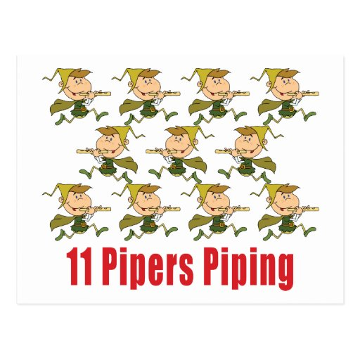 11 pipers piping images 11 pipers piping postcards post card zazzle 8558