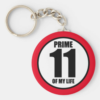 11 - prime of my life keychain
