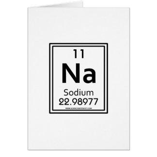 11 Sodium Greeting Card