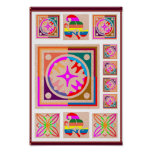 11 Square Decorations - Goodluck Oriental Art Posters