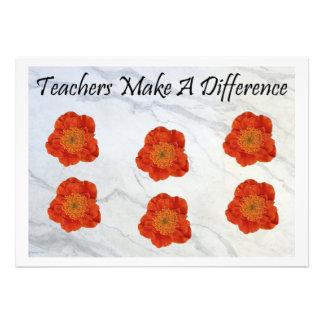 11 Teachers Make A Difference Custom Invites
