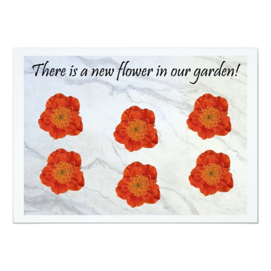 11 There Is A New Flower In Our Garden Card