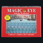 """11""""w USA Magic Eye 2022 Wall Calendar<br><div class=""""desc"""">CUSTOM GRIDS DO NOT CHANGE SETTINGS:  Contains USA,  Christian & Jewish holidays and moon phases.          #1 New York Times Bestseller Magic Eye® 3D illusions!  This 2022 Wall Calendar contains 12 dynamic and beautiful 3D illusions. Available worldwide! Magic Eye wall calendars have received numerous national and international awards.</div>"""