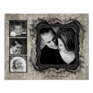 "11""x14"" 4 Slot Family Collage Montage Timeless Poster"