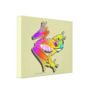 "11""x14"" CANVAS PRINT - FROG POP ART"