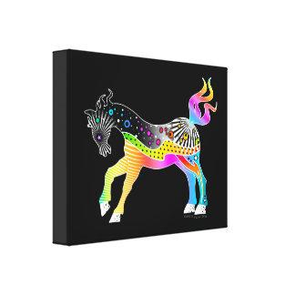 """11""""x14"""" CANVAS PRINT,  Pop Art HORSE"""
