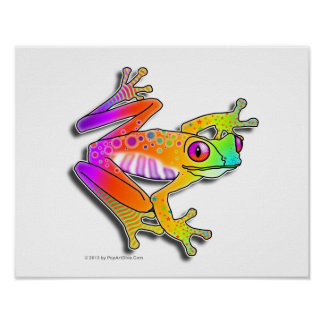 "11""X14"" POSTER or ARCHIVAL PRINT - FROG POP ART"