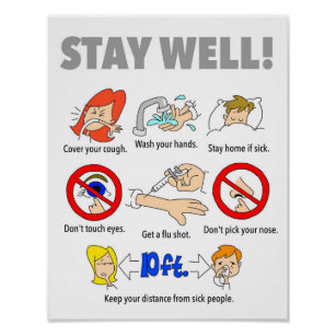 11x14 STAY WELL Poster