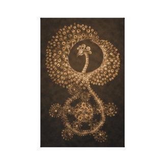 11 x 17 Phoenix abstracta de bronce Impresión En Lienzo