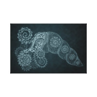 11 x 17 Steel Abstract Squid Canvas Print