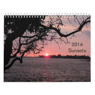 11 x 17 Two-page Sunsets 2014 calendar