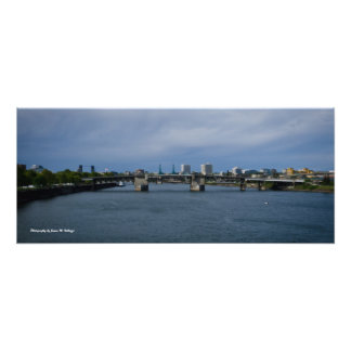 11 x 26 Morrison Bridge Portland Oregon Photo Print