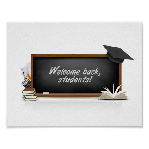 "11"" x 8.5"" Back to School Poster"