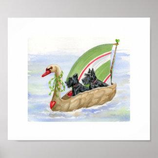 "11"" x 9.5"" Scottie Sailing print"