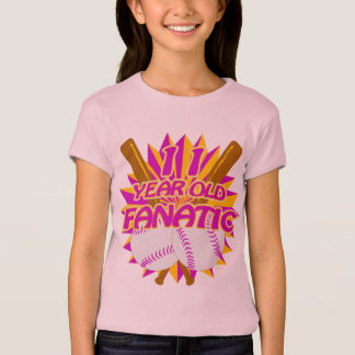 11 Year Old Baseball Fanatic T-Shirt