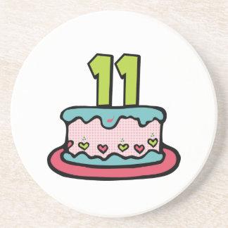 11 Year Old Birthday Cake Coaster