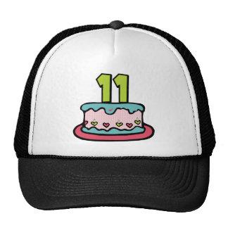 11 Year Old Birthday Cake Trucker Hat